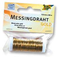 Messingdraht-gold Ø 0,3mm 80m