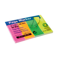 Pagemarker 20x50mm 4x50Blatt neon mix