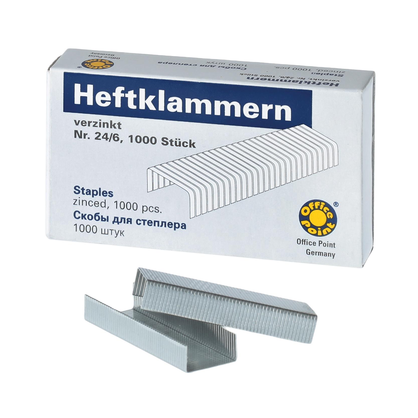 1000 Stück MAS 148 Heftklammern 24//6 verkupfert
